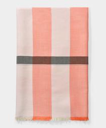 Blossom pure cashmere mega check scarf
