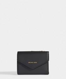 Blakely Small Card Wallet in Black Calfskin
