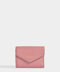 Blakely Small Card Wallet in Rose Calfskin