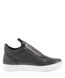 dark grey  leather sneakers