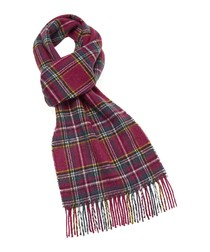 Edinburgh pink pure wool scarf