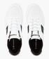 Black & white leather logo sneakers Sale - lacoste Sale