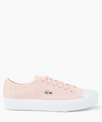Light pink leather sneakers