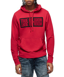 Ruby red & black graphic hoodie