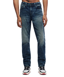 Dark wash casual fit jeans