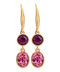 Jemma pink & purple Swarovski earrings