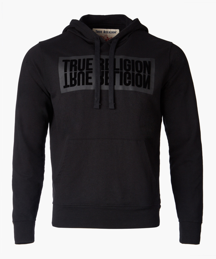 Black logo graphic hoodie Sale - True Religion Mens
