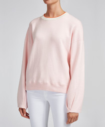 Elsa blush cotton & cashmere sweatshirt