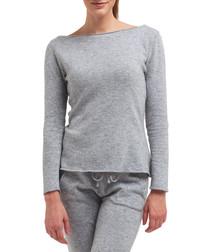 Grey cashmere & wool blend jumper