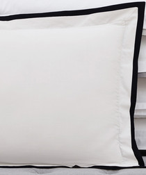 2pc Signature white & black pillowcase set