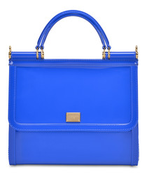 Electric blue PVC grab bag