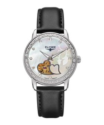 Monrose pearly white dial watch