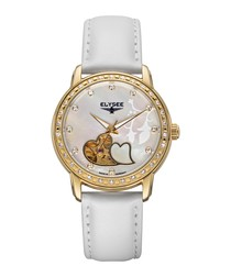 Monrose pearly white watch