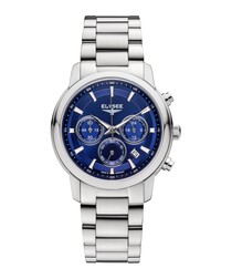 Lady Sport blue stainless steel watch