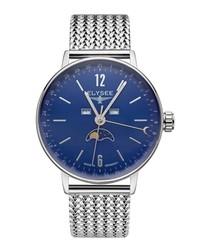 Sithon Moon blue steel watch