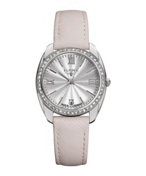 Diana pink leather strap watch