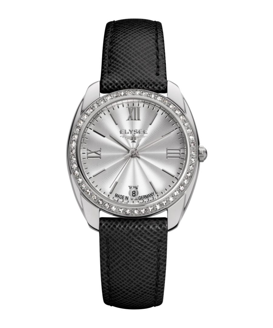 Diana black leather strap watch Sale - Elysee