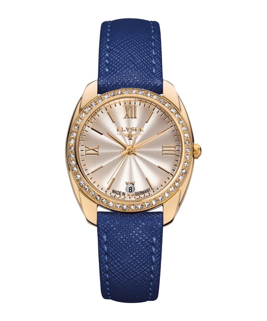 Diana blue leather strap watch Sale - Elysee
