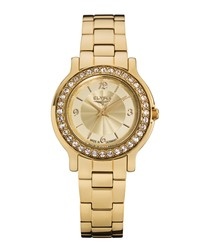 Helena gold-tone stainless steel watch