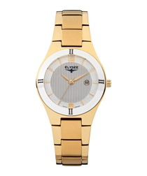 Myra gold-tone stainless steel watch