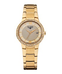 Nora gold-tone stainless steel watch