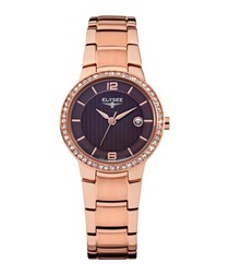Nora rose-tone stainless steel watch