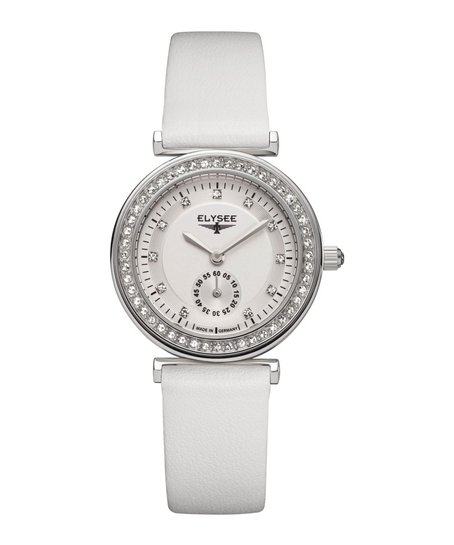 Maia white leather strap watch Sale - Elysee