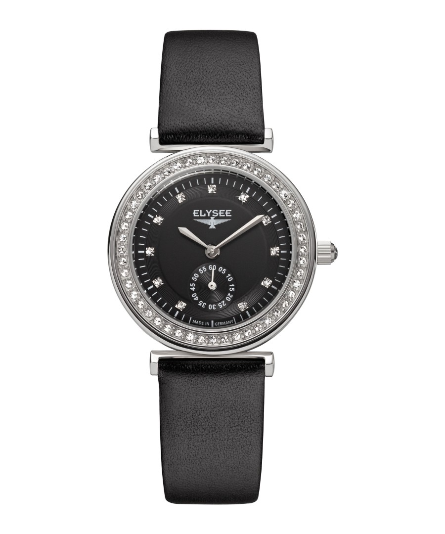 Maia black leather strap watch Sale - Elysee