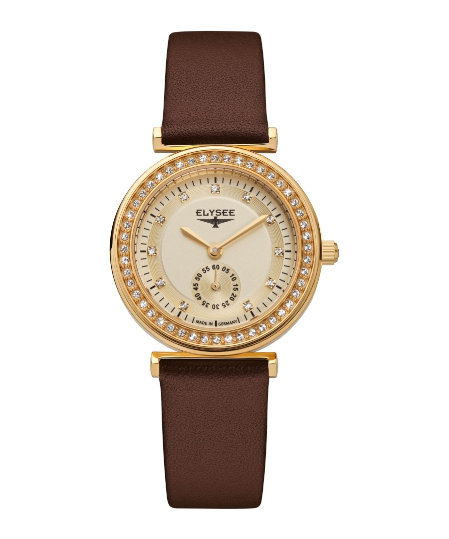 Maia brown leather strap watch Sale - Elysee