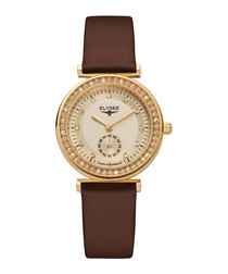 Maia brown leather strap watch