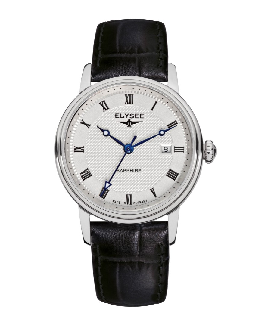 Monumentum black leather strap watch Sale - Elysee