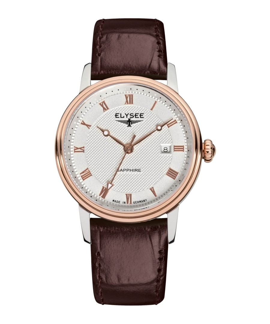 Monumentum brown leather strap watch Sale - Elysee