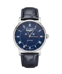 Monumentum blue leather strap watch