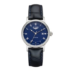 Lady Monumentum blue leather watch