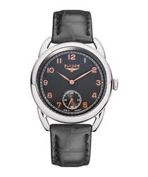 Vintage Lady leather strap watch