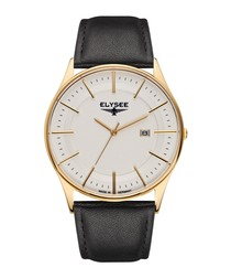 Diomedes II leather strap watch