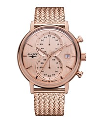 Minos rose gold-tone watch