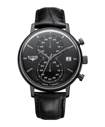 Minos leather strap watch