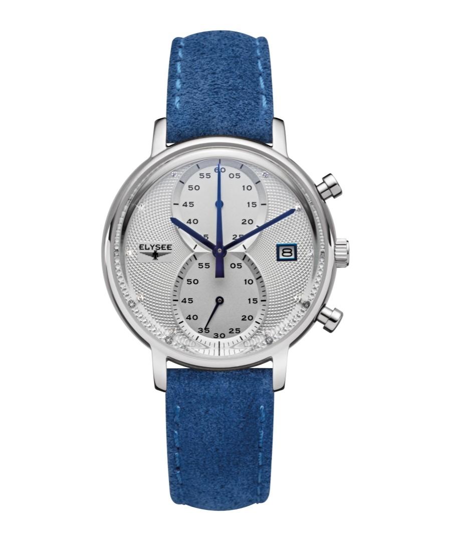 Minos Lady blue leather strap watch Sale - Elysee