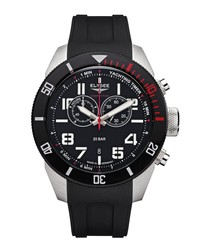 Yachting Timer black silicone watch