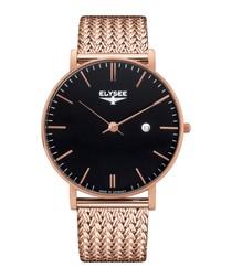 Zelos rose gold-tone steel watch