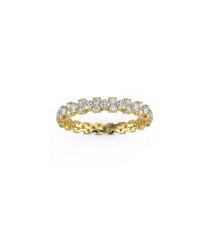 9k gold & diamond garland eternity ring