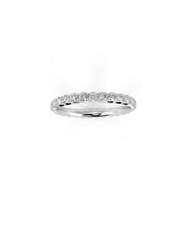 18k French pave diamond eternity ring