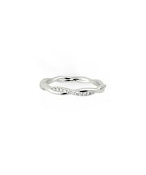 Twisted diamond full eternity ring