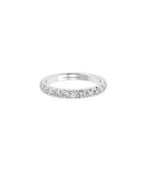 Platinum micro pave half eternity ring