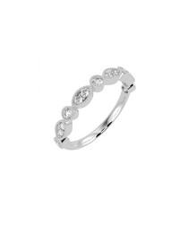 Marquise & round diamond half eternity ring