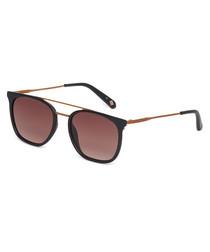 Elkin rose gold-tone & black sunglasses