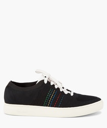 Black patterned sneakers