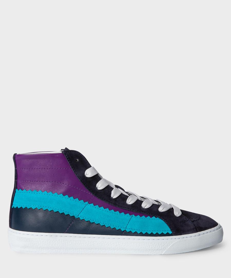 Blue & purple high-top sneakers Sale - paul smith
