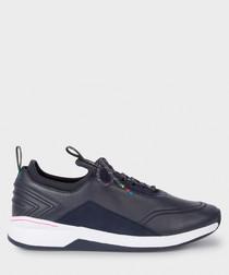 Dark navy leather sneakers